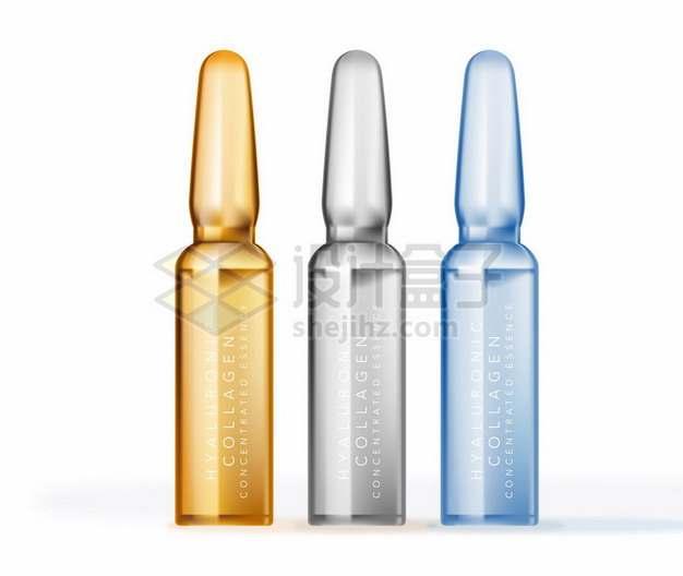 3种颜色的安瓿瓶381515png矢量图片素材
