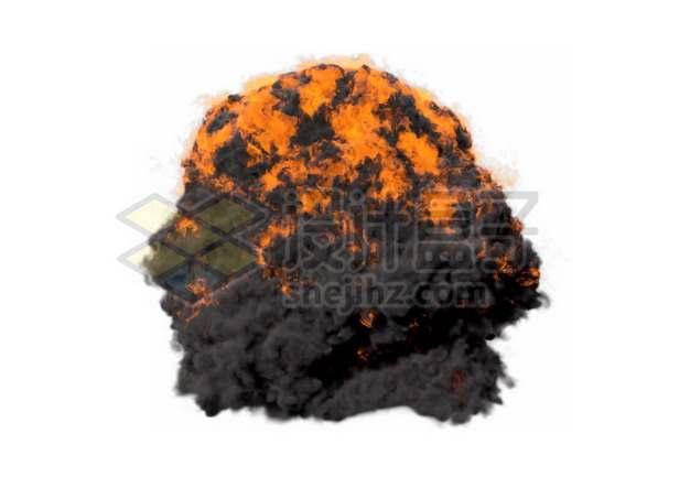 爆炸产生的滚滚浓烟和火球178386psd/png图片素材