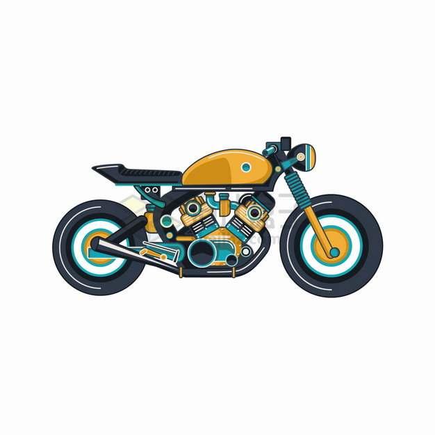 卡通摩托车侧面图png图片素材