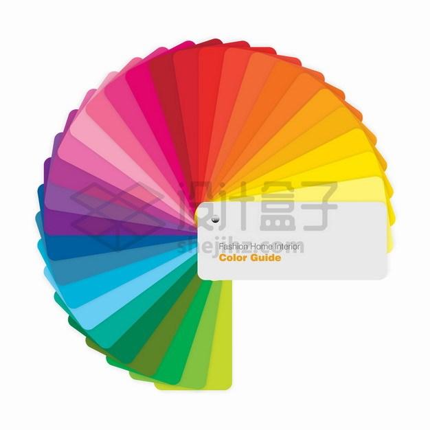 展开的圆形调色板色卡平面设计师专用png图片素材 IT科技-第1张