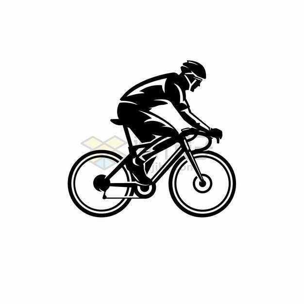 自行车比赛公路自行车剪影png图片素材