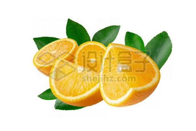 切开的橙子590928psd/png图片素材 生活素材-第1张
