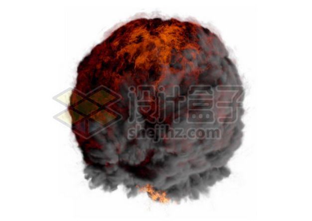 爆炸产生的滚滚浓烟和火球990885psd/png图片素材