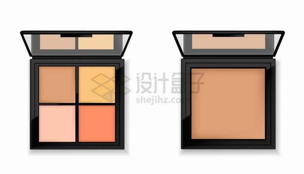 逼真的4色眼影盘化妆品美妆品png图片素材