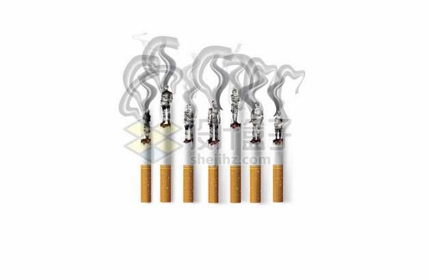 7支冒烟的香烟910759png矢量图片素材