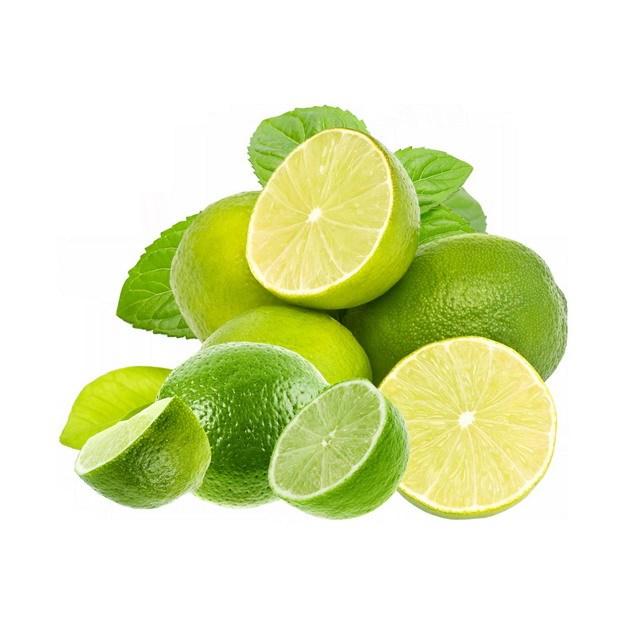 切开的青柠檬美味水果768214png图片素材 生活素材-第1张