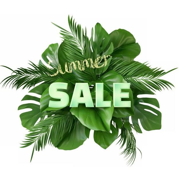 热带树叶绿色叶子装饰标题背景395052png图片素材 生物自然-第1张