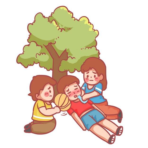 炎热夏天中暑热晕的路人躺在树下休息751927png图片素材 健康医疗-第1张