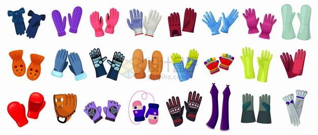 各种棉手套针织手套拳击手套医用手套橡胶手套png图片素材 生活素材-第1张