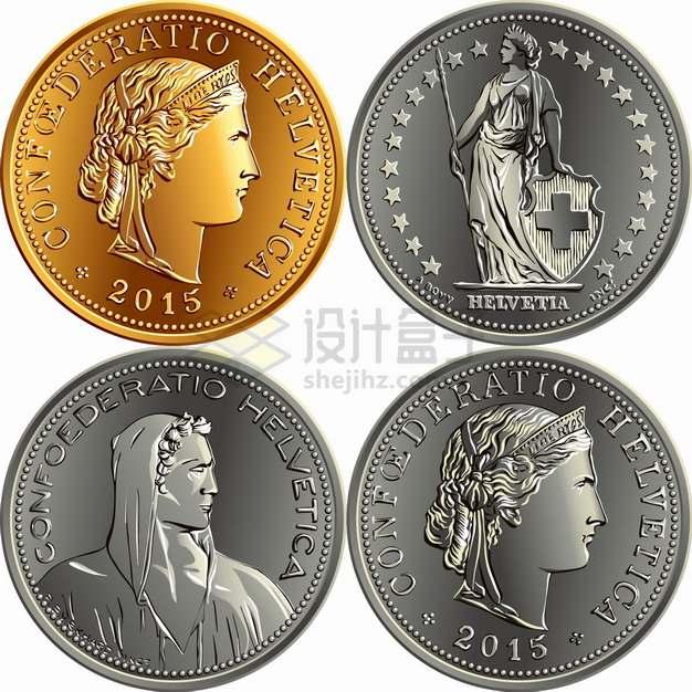 瑞士法郎硬币货币外国钱币png图片素材