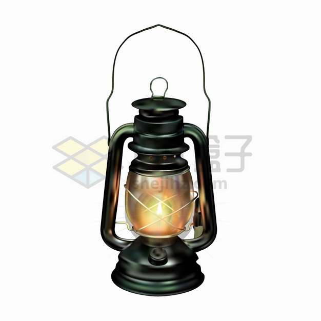 一盏逼真的煤油灯老油灯png图片素材