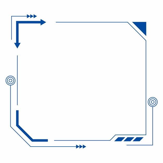 蓝色扫码扫一扫二维码装饰边框828068AI矢量图片素材 新媒体-第1张