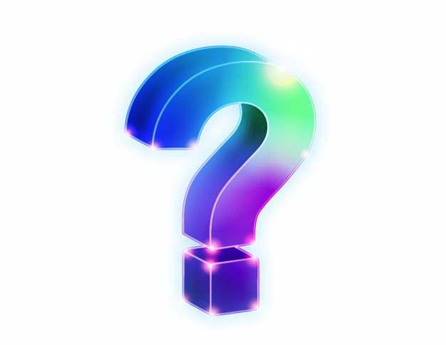 蓝紫色的3D立体问号符号694425AI矢量图片素材