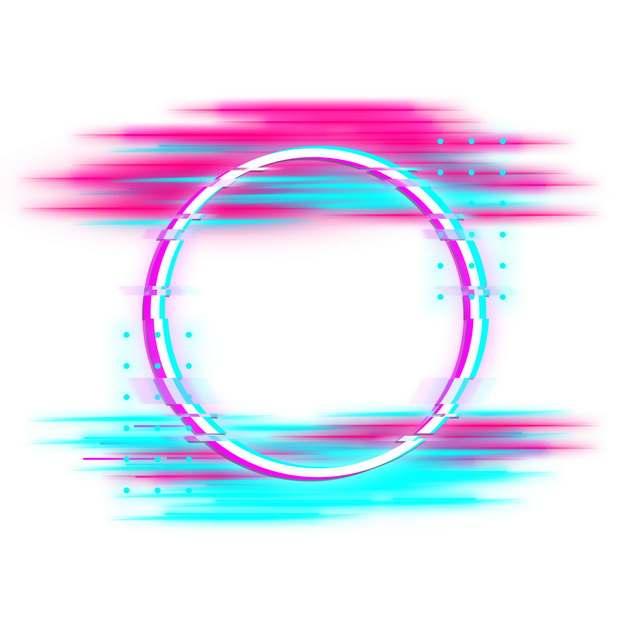 抖音故障风格彩色圆形边框874940png图片素材