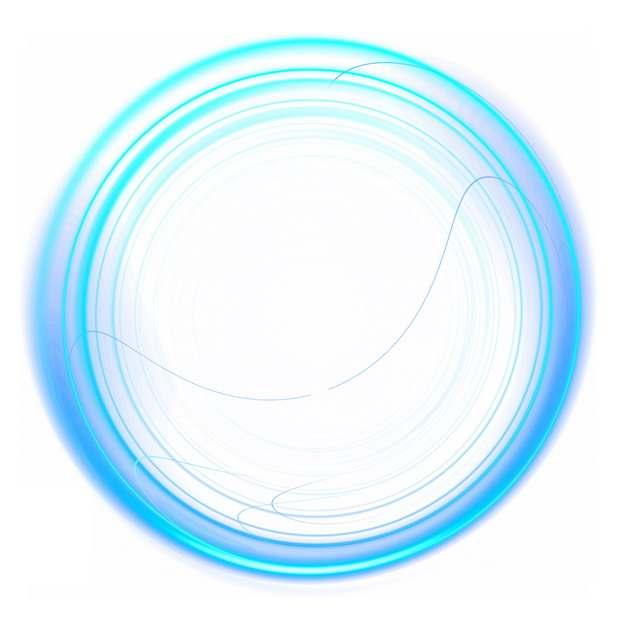 抽象蓝色光环装饰912294png图片素材
