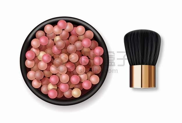 珍珠粉和化妆刷化妆品美妆品png图片素材