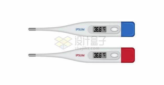 两种颜色的液晶显示温度计体温计356599png矢量图片素材
