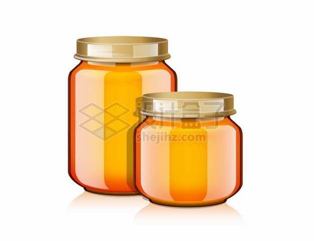 2款装满蜂蜜的玻璃罐子325722png矢量图片素材