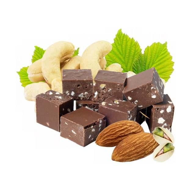 腰果巧克力杏仁和开心果等干果美味零食800515png图片素材