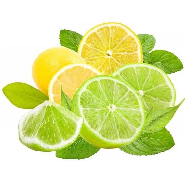 切开的黄柠檬和青柠檬美味水果626427png图片素材