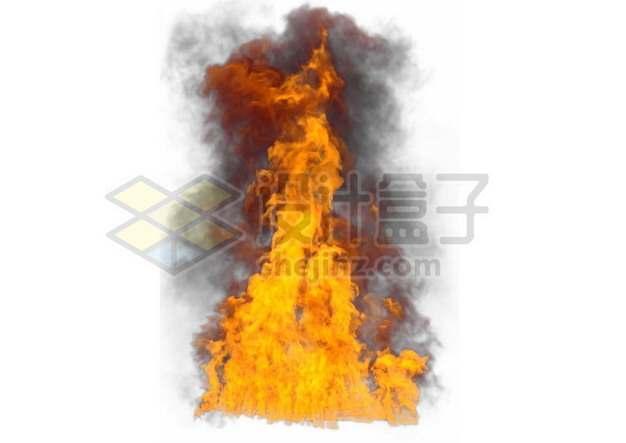 爆炸产生的冲天火光熊熊烈火868592psd/png图片素材