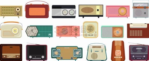 18款复古风格收音机png图片素材 生活素材-第1张