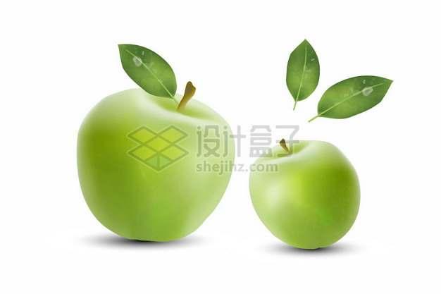2颗青苹果732736png矢量图片素材