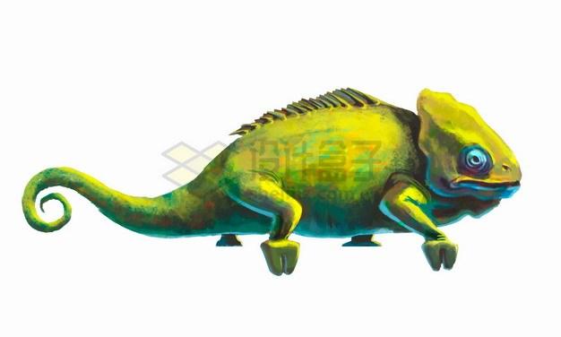 彩色变色龙石头雕像png图片素材 生物自然-第1张