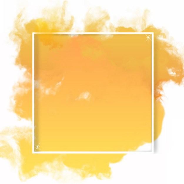 白色立体方框和黄色涂鸦背景513724png图片素材 边框纹理-第1张