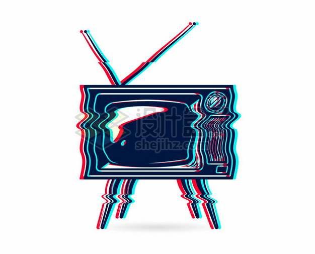 抖音故障风的电视机136403png矢量图片素材