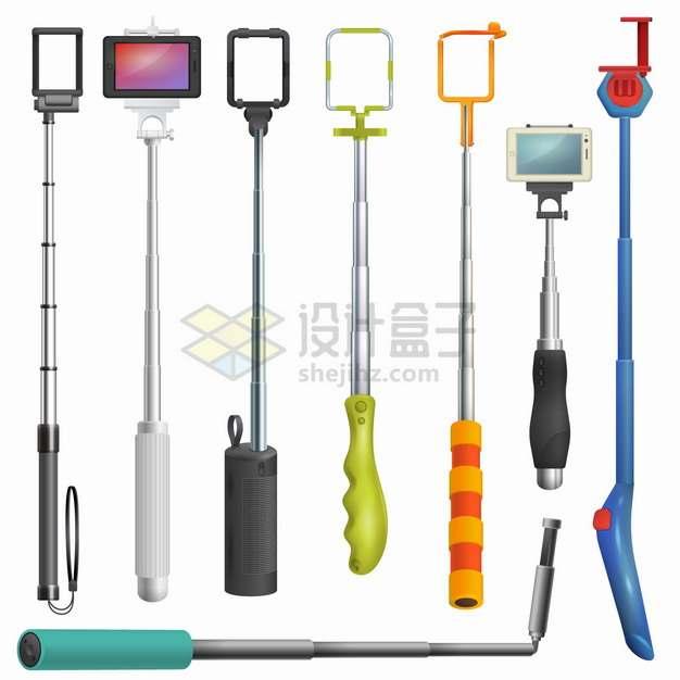 各种各样的手机蓝牙自拍杆自拍神器png图片素材
