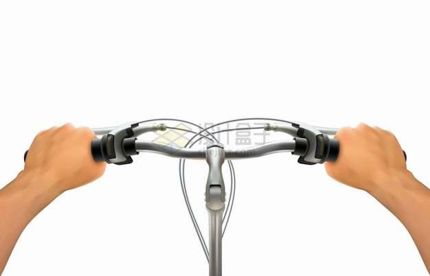 第一人称视角骑自行车双手握住车把手png图片素材