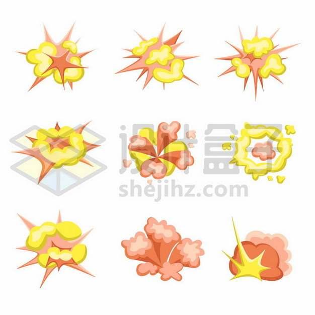9款卡通爆炸插画503681png矢量图片素材