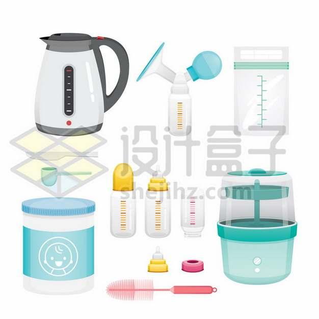 卡通电水壶温奶器恒温调奶器宝宝奶瓶408063png矢量图片素材