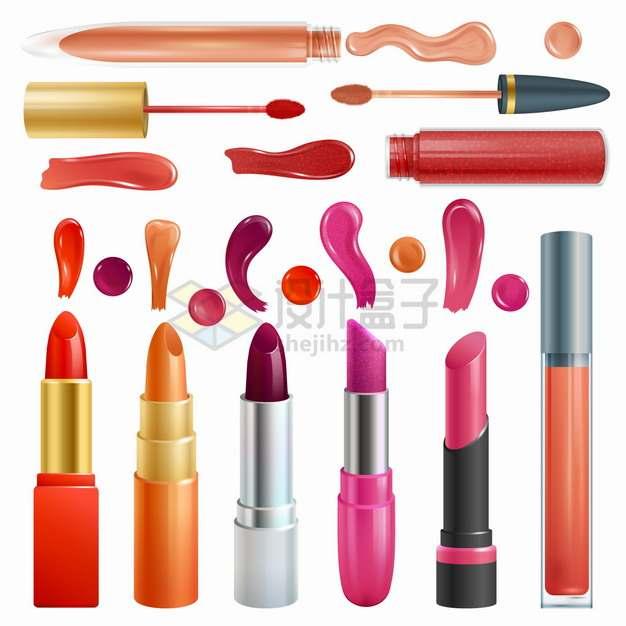 各种指甲油口红等化妆品美妆品笔触png图片素材