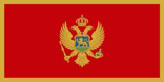 标准版黑山国旗图片素材