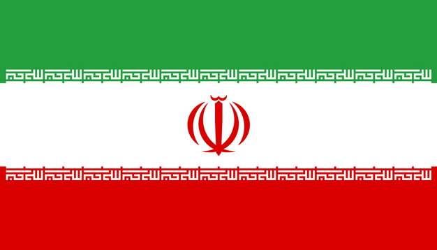 标准版伊朗国旗图片素材