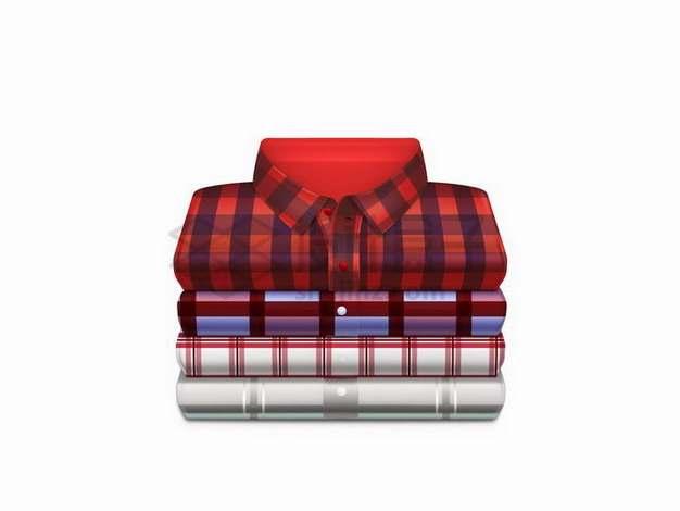 折叠整齐的格子衬衫592797png矢量图片素材