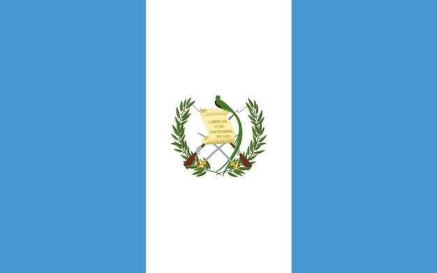 标准版危地马拉国旗图片素材
