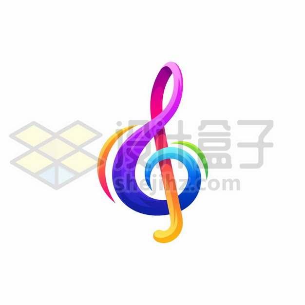 彩色创意音乐音符符号图案412398png矢量图片素材