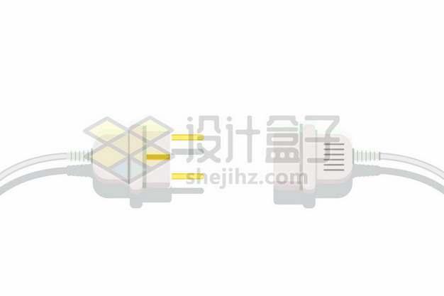 电线插头扁平插画457992png矢量图片素材