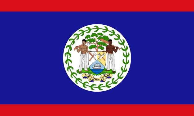 标准版伯利兹国旗图片素材