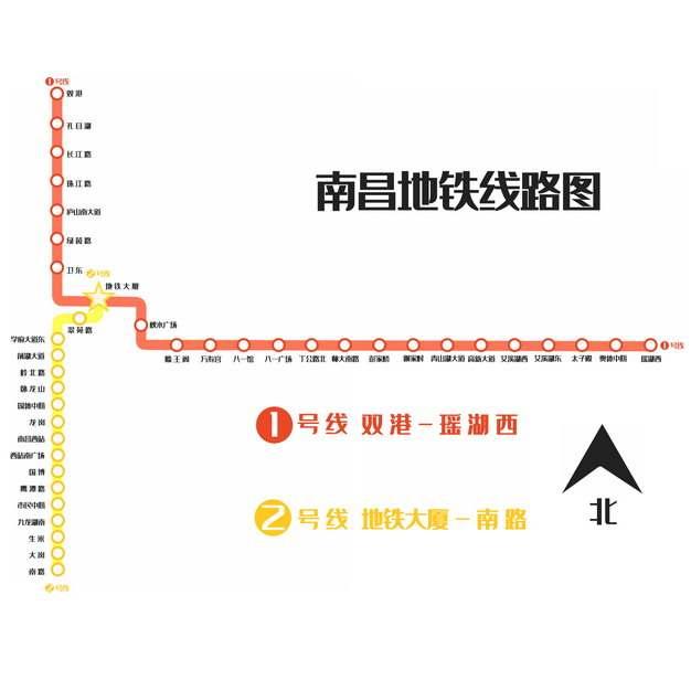 南昌地铁线路图规划图png图片免抠素材