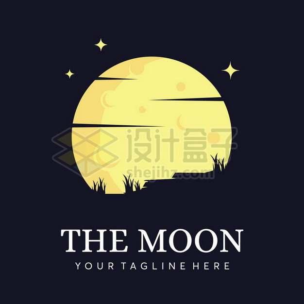 黄色的卡通月亮logo设计方案173815png矢量图片素材