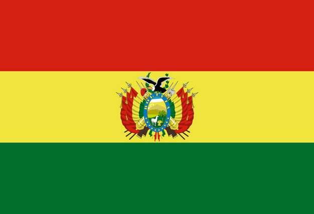 标准版玻利维亚国旗图片素材