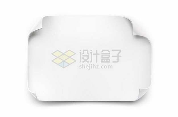 四个角翘起来的纸张贴纸205971png矢量图片素材