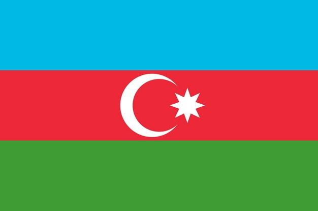 标准版阿塞拜疆国旗图片素材 科学地理-第1张