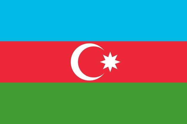 标准版阿塞拜疆国旗图片素材