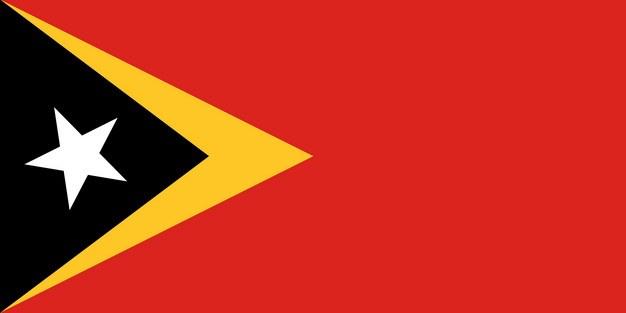 标准版东帝汶国旗图片素材 科学地理-第1张