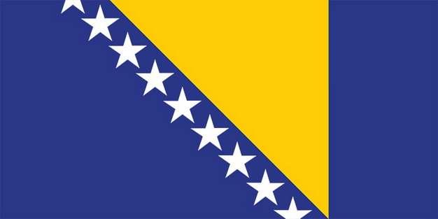 标准版波斯尼亚和黑塞哥维那波黑国旗图片素材